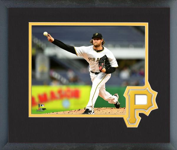 Gerrit Cole Pittsburgh Pirates 2017 Action- 11x14 Logo Matted Framed Photo