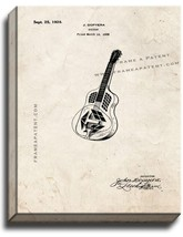 Guitar Patent Print Old Look on Canvas - $69.95+