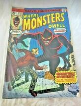 Vintage Where Monster's Dwell Marvel Comics Group Comic Book (1970's) - $11.87