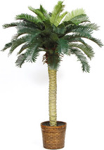 Artificial Tree for Home Decor Indoor Potted Palm Silk Wicker Basket Accent 4ft - $79.19