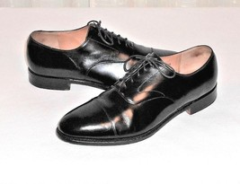 Cole Haan Men's 10.5 B Benchmade in England Black Leather Cap Toe Dress ... - $54.00
