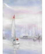 "Original Watercolor by Ana Sharma, ""Summer Dream"",  11 3/4 x 16 inches - $360.00"