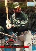 1993 Topps Stadium Club 1ST Day Baseball Card #349 Dave Henderson Athletics - $1.42