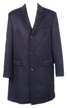 J Crew Men's Crosby Topcoat Jacket Coat Lined  Wool Cashmere E0971 Navy 36R - $165.59