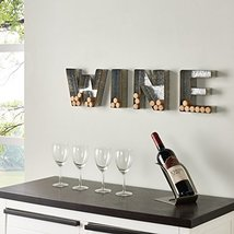 Danya B. HG11415 Wall Mount Decorative Galvanized Metal Art Wine Letters Cork Ho image 8