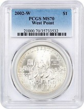 2002-W West Point Bicentennial $1 PCGS MS70 - Modern Commemorative Silve... - $82.45