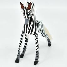 Handmade Alebrijes Oaxacan Copal Wood Carving Folk Art Zebra Horse Figure image 2