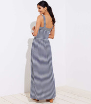 NWT LOFT Petite Striped Strappy Maxi Dress - Forever Navy - Size Medium P - $745,33 MXN