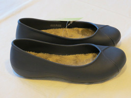 Crocs Womens Olivia II Lined Flat Navy blu relaxed fit W 5 W5 shoes Dual Comfort - $24.05