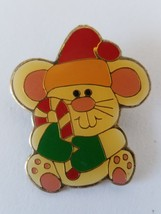 Mouse With Cane Christmas Pinback Pin - $7.27