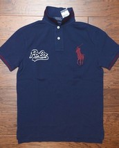 Polo Ralph Lauren Men's Custom Fit Big Pony Polo Patch Cotton Polo Shirt M - $53.45