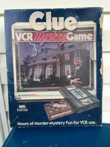 Vintage Clue VCR Murder Mystery Board Game VHS Parker Brothers Complete 1985 - $11.88