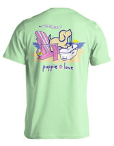 Puppie Love Rescue Dog Adult Unisex Short Sleeve Cotton Tee,Adirondack Pup
