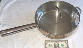 """CULINARY ESSENTIALS ALL STAINLESS STEEL 11.5"""" x 3.5"""" COOK POT W/ GLASS L... - $36.78"""