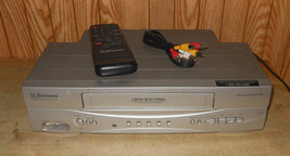 EMERSON EWV603 VHS VCR Player Recorder with Remote & Cables - $87.06