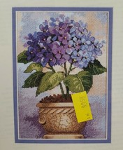 Dimensions Gold Collection Petites Counted Cross Stitch Kit Purple Hydrangea 5X7 - $13.09