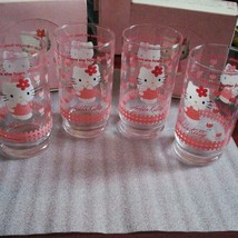 Sanrio Vintage 1997 Hello Kitty Angel Glass Pink Set Of 4  New In box Rare - $51.77