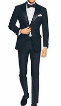 2 Piece Mens Slimfit Midnight Blue Wedding Tuxedo image 1