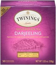 Twinings of London Darjeeling Tea Bags, 50 Count Pack of 6