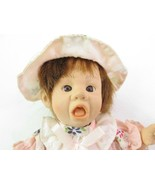 "GI-GO Toys Palm Pal Bean Bag Doll 8"" 1996 Girl Open Mouth Flower Dress w... - $17.77"