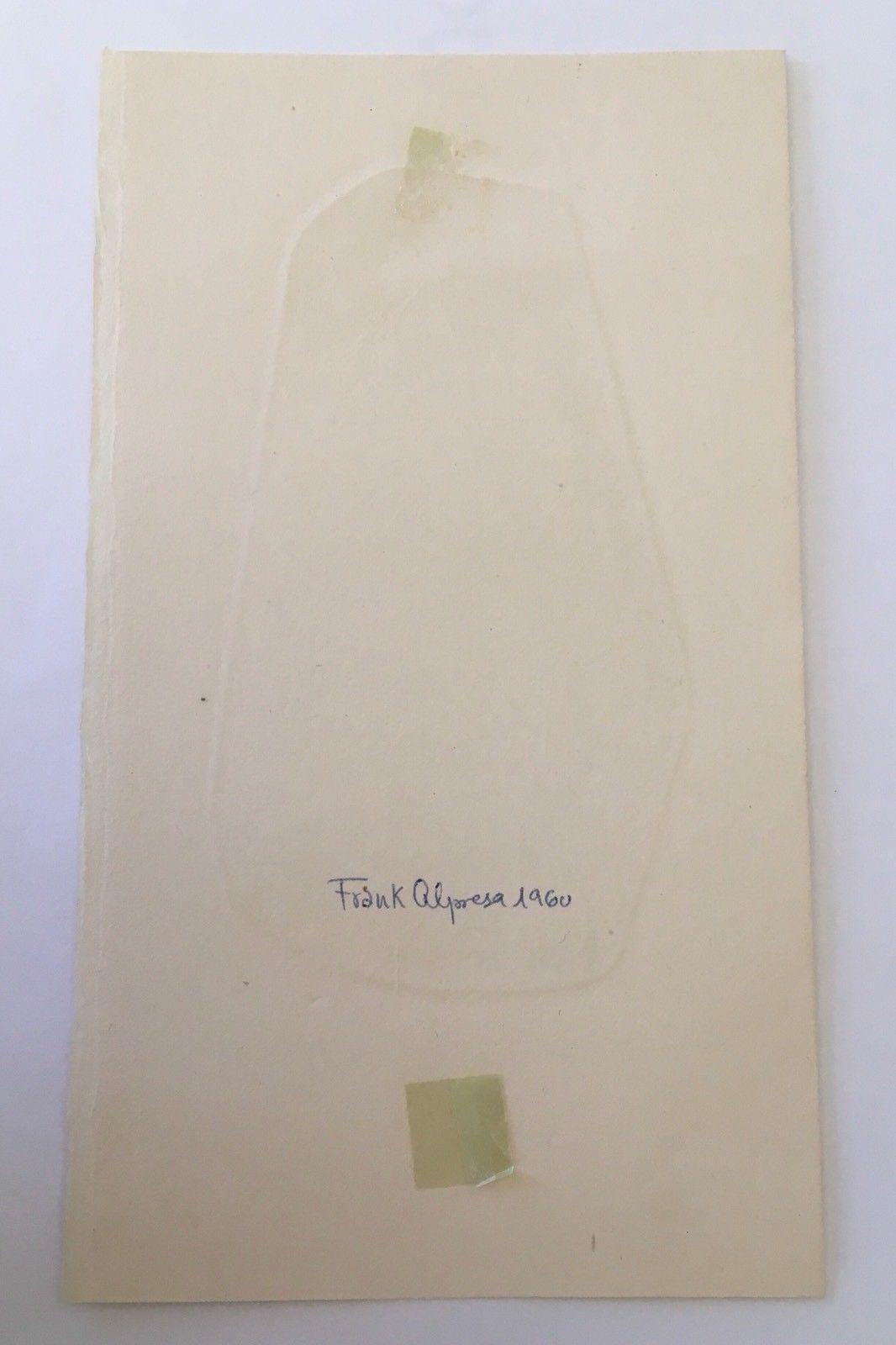 Ex Libris Frank Alpresa 1960 Book Plate Juan Arturo Sedo Exlibris