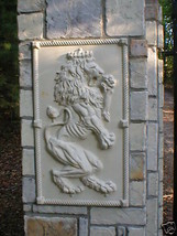 "Giant Mold 19""x34""x2"" Scottish Rampant Lion (Right Face) Wall Plaque, Fast Ship image 2"
