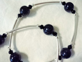 Blue Goldstone Metaphysical Blessings Bracelets- Deep Blue 'Starry' Ston... - $20.00