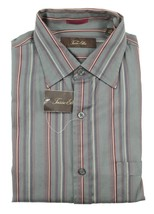 New Mens Tasso Elba Cotton Lavender Twill Dress Shirt L 16 1/2 - $18.99