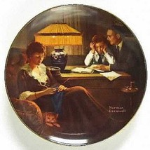 # Rockwells Light Campaign collector plate Fathers Help Knowles box COA - $8.79