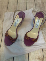 Vintage Jimmy Choo Purple And Orange Strap Sandals - $237.60