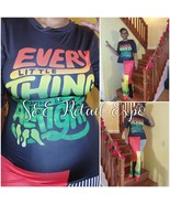 """""""Every Little Thing Is Gonna Be Alright"""" Bob Marley Lyrical Rasta Maxi D... - $45.00"""