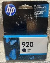 HP Office Jet 920 Printer Ink Cartridge Black July 2018 Sealed Package & Box - $6.92