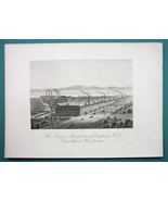 NEW JERSEY Elizabethport Singer Sewing Machines Factory - 1876 Engraving... - $26.01