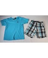 English Laundry Boys 2T Toddler Golf Polo Shirt & Plaid Shorts Blue Black - $8.90