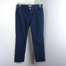 Chico's Blue Polka Dot Textured Straight Leg CUTE Jeans Sz 1 (M) - $24.99