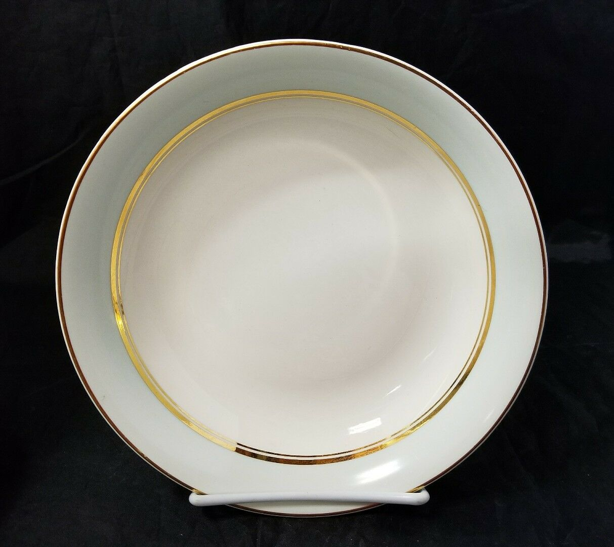 The French Saxon China Co Soup Salad Bowls Set of 4, 22kt Gold, Pottery Made USA image 4
