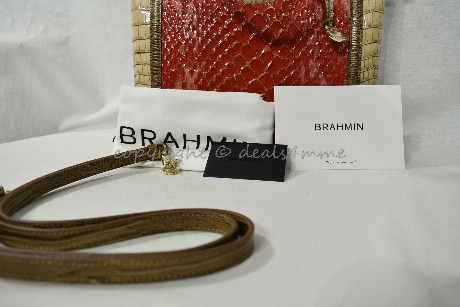 NWT Brahmin Large Duxbury Satchel/Shoulder Bag in Candy Apple Carlisle image 10