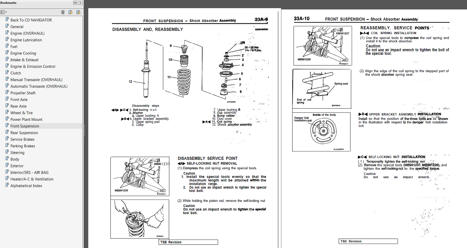 1997-1999 Mitsubishi Eclipse / Eclipse Spyder Service Manual