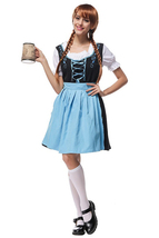Halloween Girls Embroidered Beer German Oktoberfest Costume - $32.58