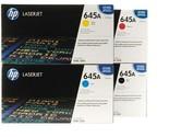 Original HP 645A Set C9730A C9731A C9732A C9733A LaserJet Toner Cartridges Black - £577.73 GBP