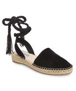 Steve Madden MESA Women's Espadrille Strappy Lace Up Sandals Flats Black... - $79.98