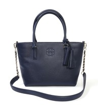 NWT TORY BURCH Thea Small Convertible Tote Gold Chain Strap Royal Navy 55366 - $330.00