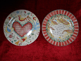 222 fifth  12 days of christmas 2 salad plates 6 geese 4 calling birds - $9.85