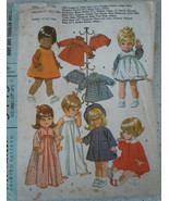 McCall's Wardrobe for Chubby Baby & Toddler Dolls Size S-M #9449 1968 - $4.99