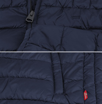 Levi's Men's Puffer Embroidered Logo Hood Quilted Packable Zipper Red Tab Jacket image 10