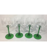 "Luminarc Emerald Stem Goblets 4oz Sherry Cordial Glasses 7"" Tall Set Of ... - $25.15"
