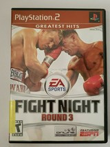 EA Fight Night Round 3 2006 PlayStation 2 PS2 Video Game Boxing CIB Comp... - $9.85