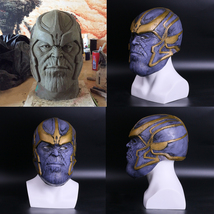 2018 Avengers: Infinity War Thanos Cosplay Helmet Mask Full Latex - £26.31 GBP