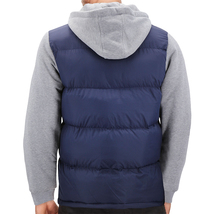 Men's Premium Hybrid Puffer Utility Insulated Hooded Quilted Zipper Jacket image 15
