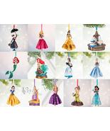 Disney Store Christmas Ornament Belle Aurora Jasmine Snow White Ariel 2016 - $48.97+